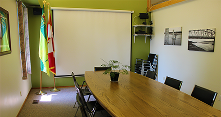 Mid-Sask Community Futures Boardroom